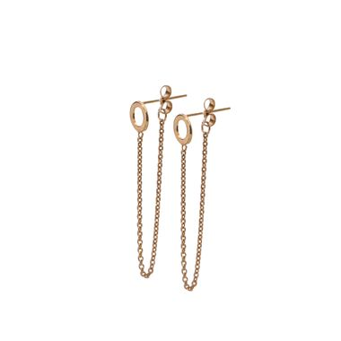 Rose - Circle Chain Stud