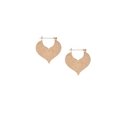 Matte Rose Heart Earring
