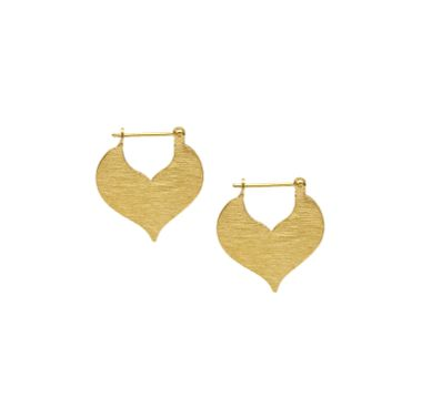 Matte Gold Heart Earring