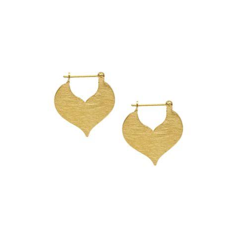 Matte Gold Heart Earring