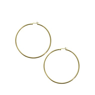Gold- Large Thin Hoop