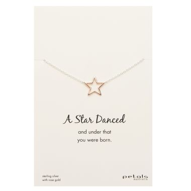 Rose - Dancing Star Necklace