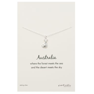 Silver - Kangaroo Necklace