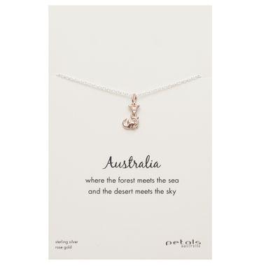 Rose - Kangaroo Necklace