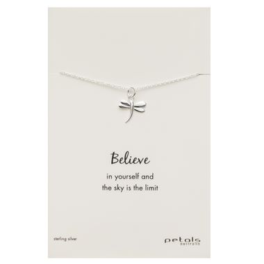 Silver - Dragonfly Necklace