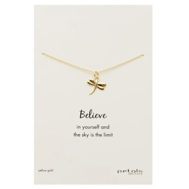 Gold - Dragonfly Necklace