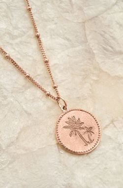 Rose - Coin Palm Necklace