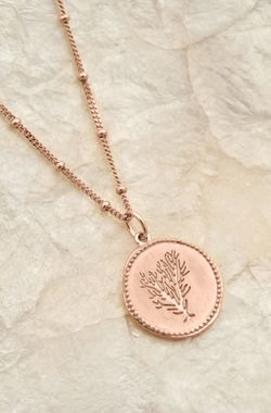 Rose - Coin Coral Necklace