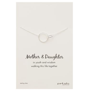 Silver- Double Circle Necklace