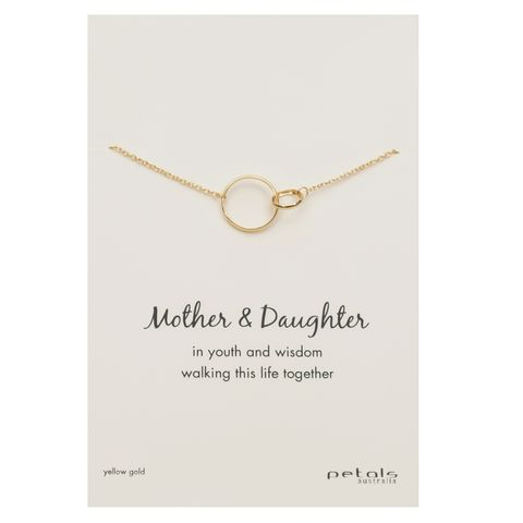 Gold - Double Circle Necklace