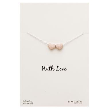 Rose - Double Matte Heart