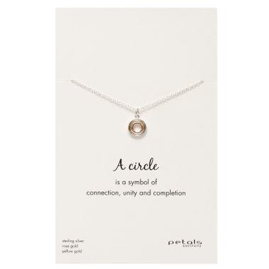 Tri - Circle Silver Necklace