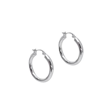 Silver - Classic Hoop Earrings