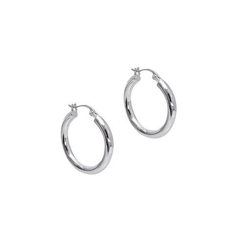 Silver - Classic Hoop Earrings
