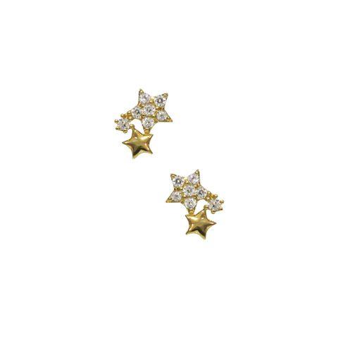 Gold - Triple Star Stud
