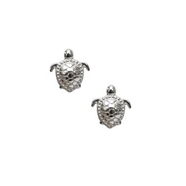 Silver - Sea Turtle Stud