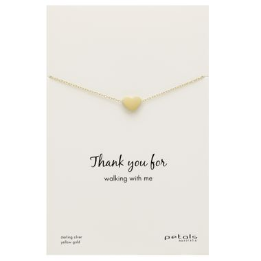 Gold - Matte Heart Necklace