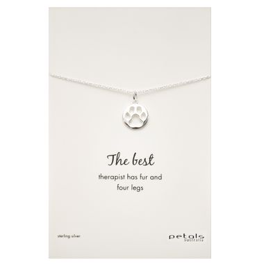 Silver - Dog Paw Necklace