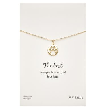 Gold - Dog Paw Necklace