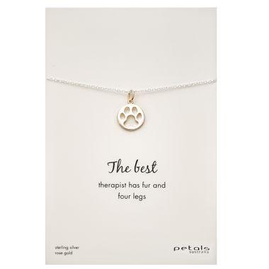 Rose - Dog Paw Necklace