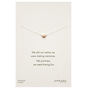Rose- Shiny Heart Necklace