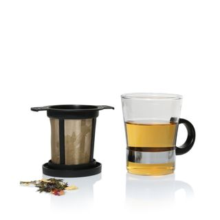 Tea Glasses with Filters & Lids