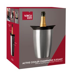 Vacu Vin Active Cooler Champagne Elegant Stainless Steel