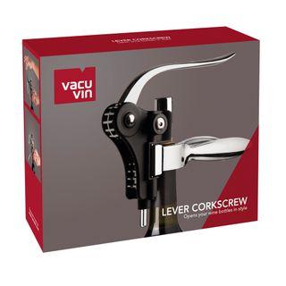 Vacu Vin Lever Corkscrew Black