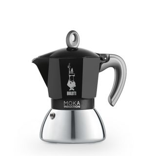 Bialetti Moka Induction Bi Layer Black 4 Cup