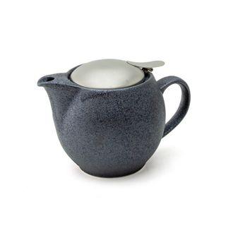 Zero Teapot 450ml Crystal Silver Matt Lid