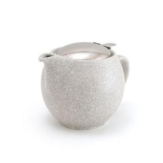 Zero Teapot 450ml Crackle White