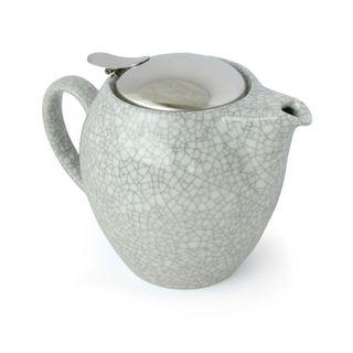 Zero Teapot 580ml Crackle White