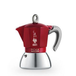 Bialetti Moka Induction Bi Layer Red 4 Cup