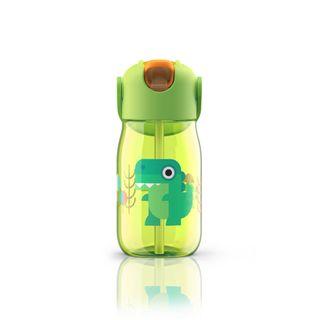 Zoku Kids Straw Bottle 400ml Green