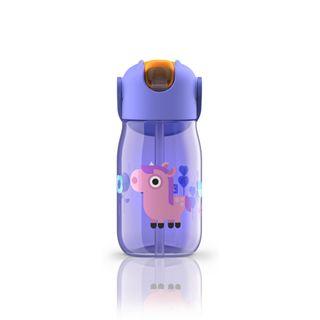 Zoku Kids Straw Bottle 400ml Purple