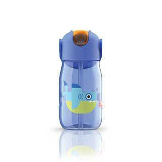 Zoku Kids Straw Bottle 400ml Blue