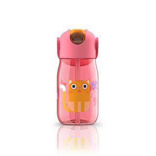 Zoku Kids Straw Bottle 400ml Pink
