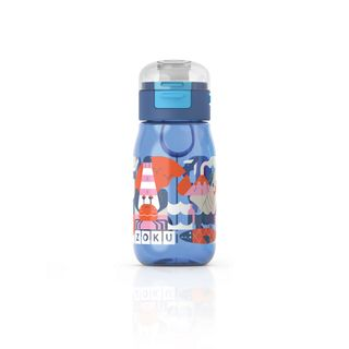 Zoku Kids Flip Gulp Bottle 465ml Blue
