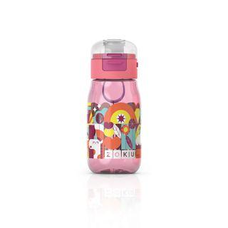 Zoku Kids Flip Gulp Bottle 465ml Pink