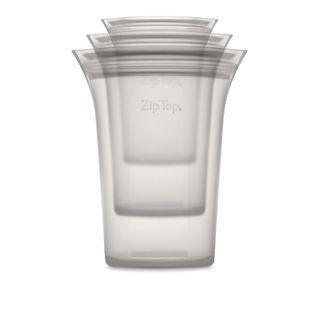 Zip Top Cup 3 Pce Set S/M/L Grey