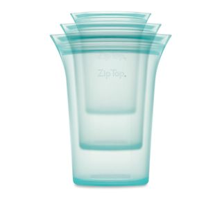 Zip Top Cup 3 Pce Set S/M/L Teal