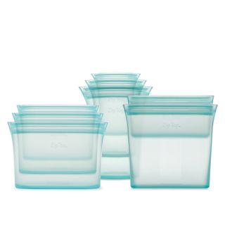 Zip Top Full 8 Piece Set - Bag, Cup & Dish in Teal