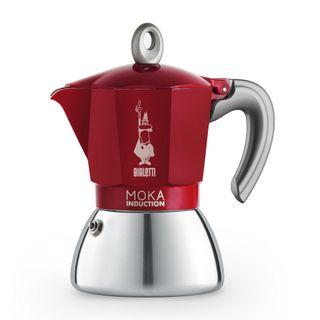 Bialetti Moka Induction Bi Layer Red 6 Cup