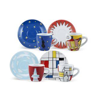Bialetti Espresso Cup Pop Arte 4 Piece Set