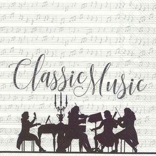 IHR Luncheon Classic Music White Silver