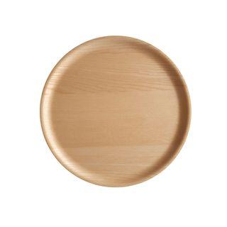 Atiya Round Wooden Tray Ash 35cm