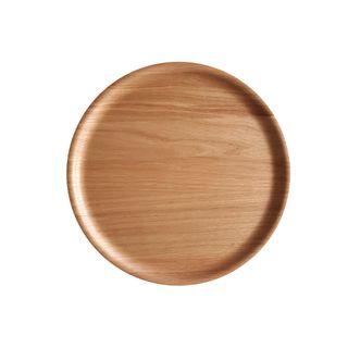 Atiya Round Wooden Tray Oak 35cm