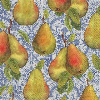IHR Luncheon Classical Pears Blue