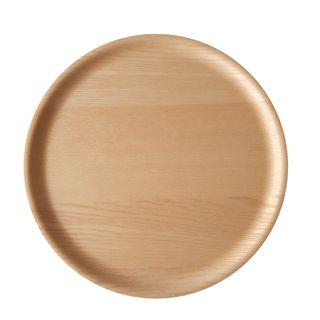Atiya Round Wooden Tray Ash 45cm