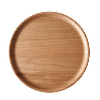 Atiya Round Wooden Tray Oak 45cm